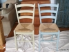 Final chairs - Versailles on left, Duck Egg on right