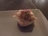 Scallop with leek & apple on mushroom cake